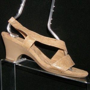 Aerosoles 'Brasserie' brown snake print heels 9.5M